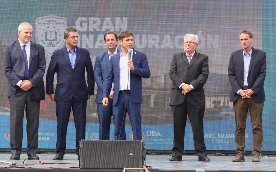 Sujarchuk, Kicillof y Massa inauguraron el Colegio Preuniversitario de Escobar